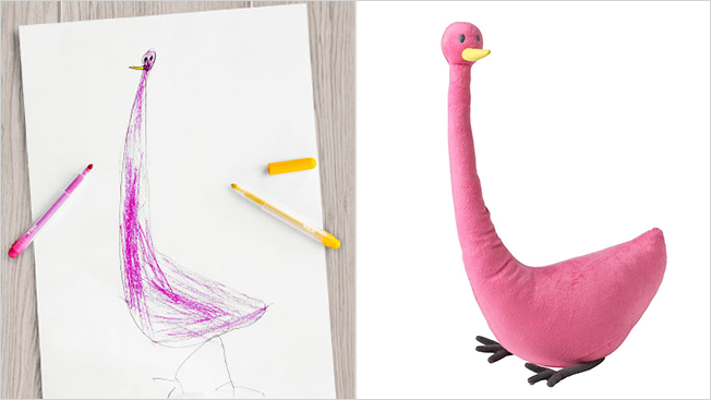 ikea flamingo toy